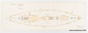 Deck plan - hand coloured (1939)
